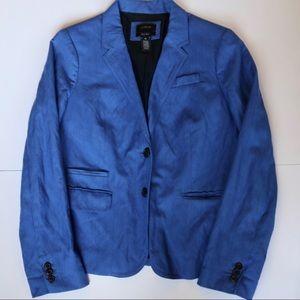 J. Crew Blue Schoolboy Blazer Size 10